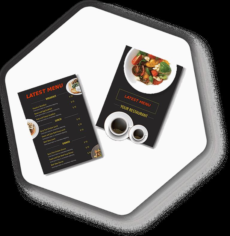 menu cover design