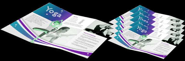 yoga brochure design service