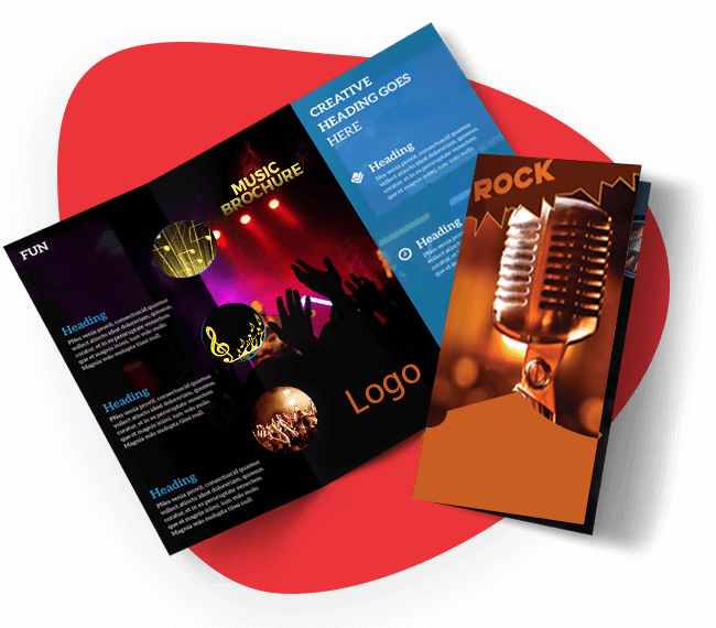 Benefits Music Brochure Design